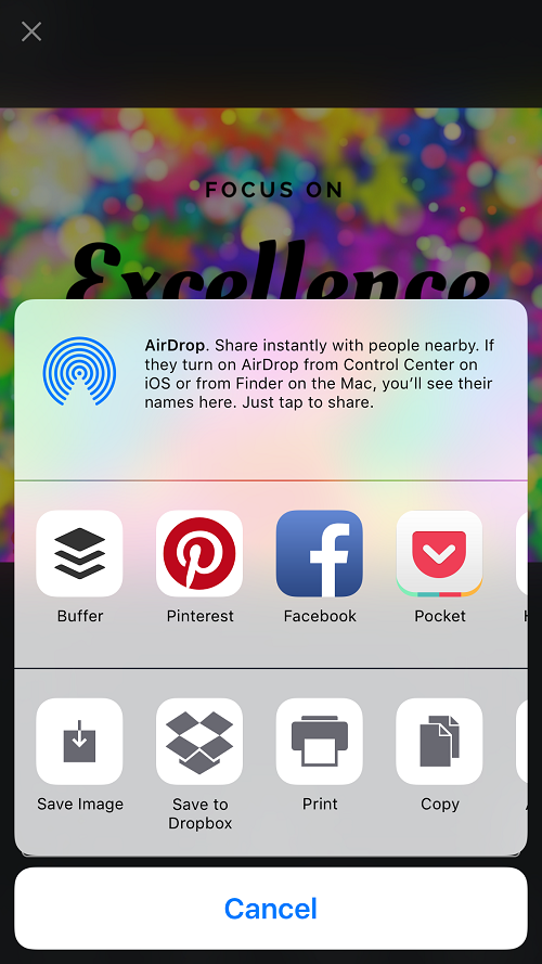 Canva For IPhone Share On Social Media