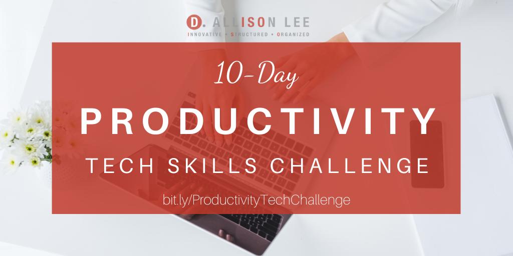 productivity-tech-skills-challenge-dallisonlee.com